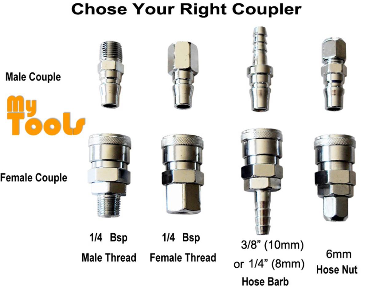 "Mytools PF20 1/4"" Air Compressor Hose Quick Coupler Connector Coupling Socket"
