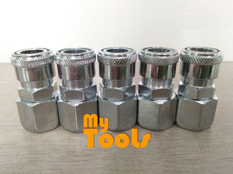 "Mytools SF20 1/4"" Air Compressor Hose Quick Coupler Connector Coupling Socket"