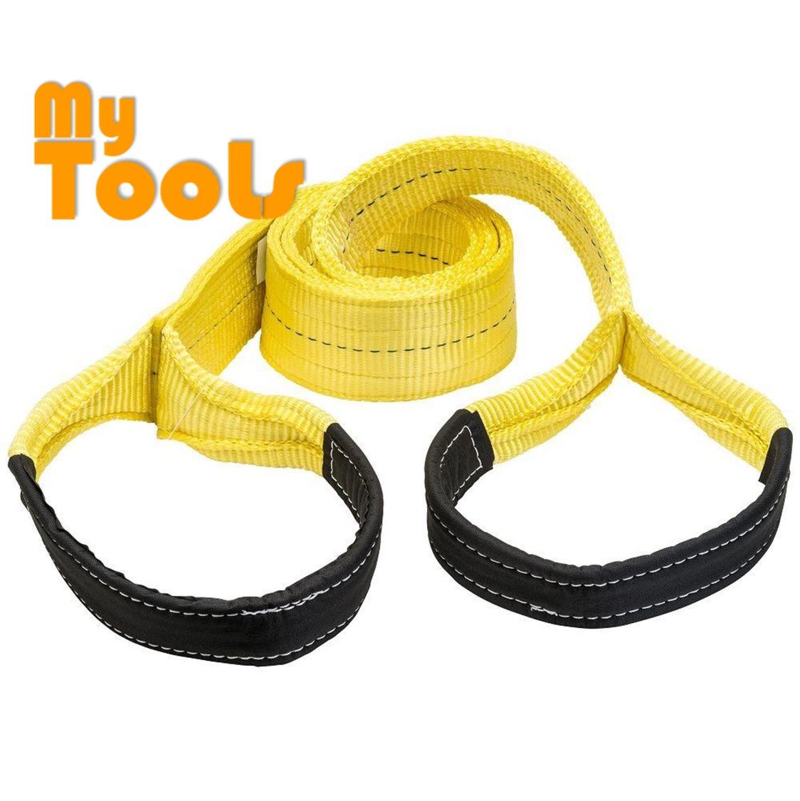 Yellow 3Ton 75mm x 3m Flat Webbing Sling Eye and Eye Lifting Strap Belt ( Safety Factor 6:1)