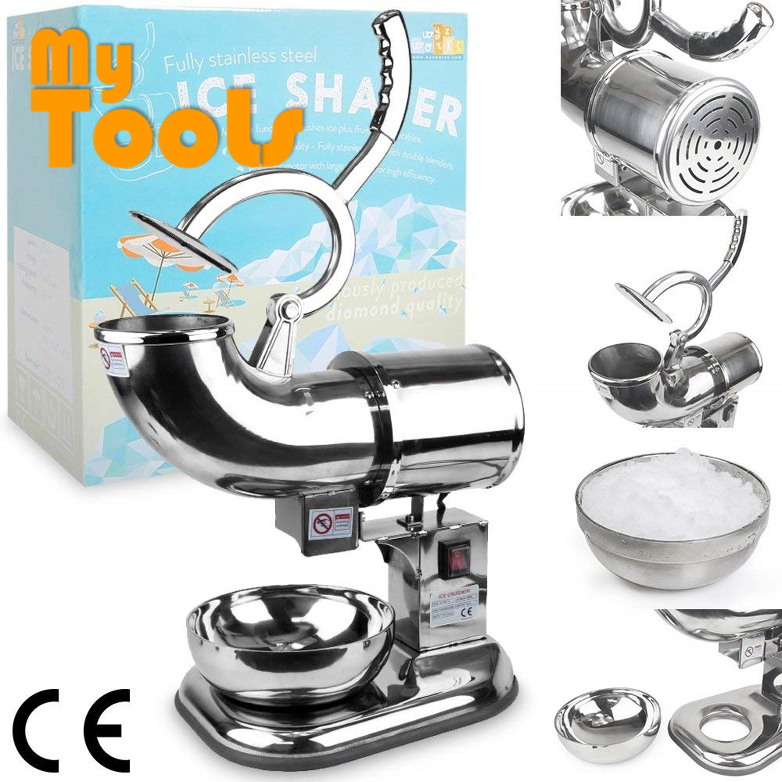 Mytools Heavy Duty Commercial Ice Crusher/ Ice Shaver for Ais Kacang