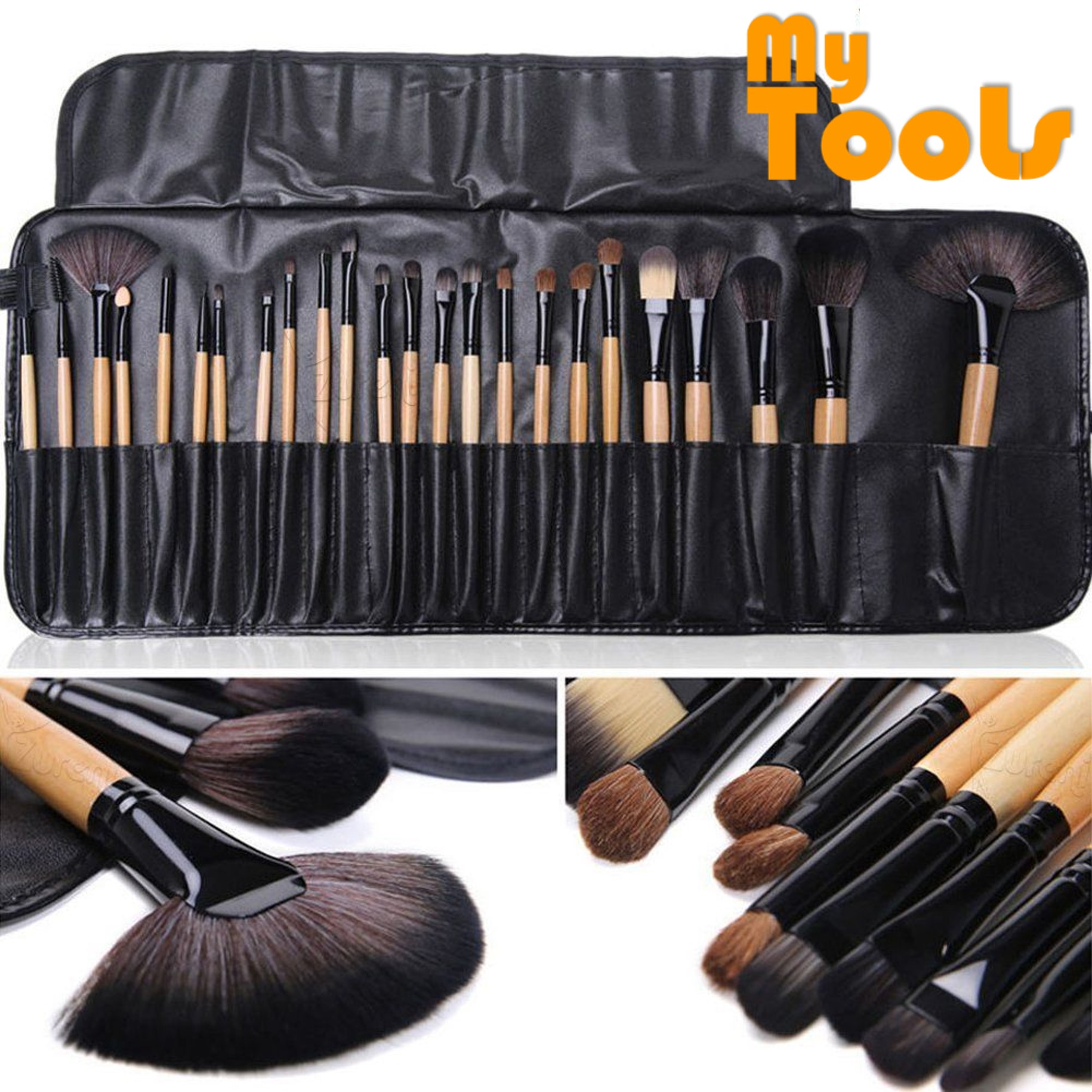 24pcs Makeup Brushes Set tools Toiletry Kit Wool Make Up Brushes Full Function Case Cosmetic Brush Make-up Tool