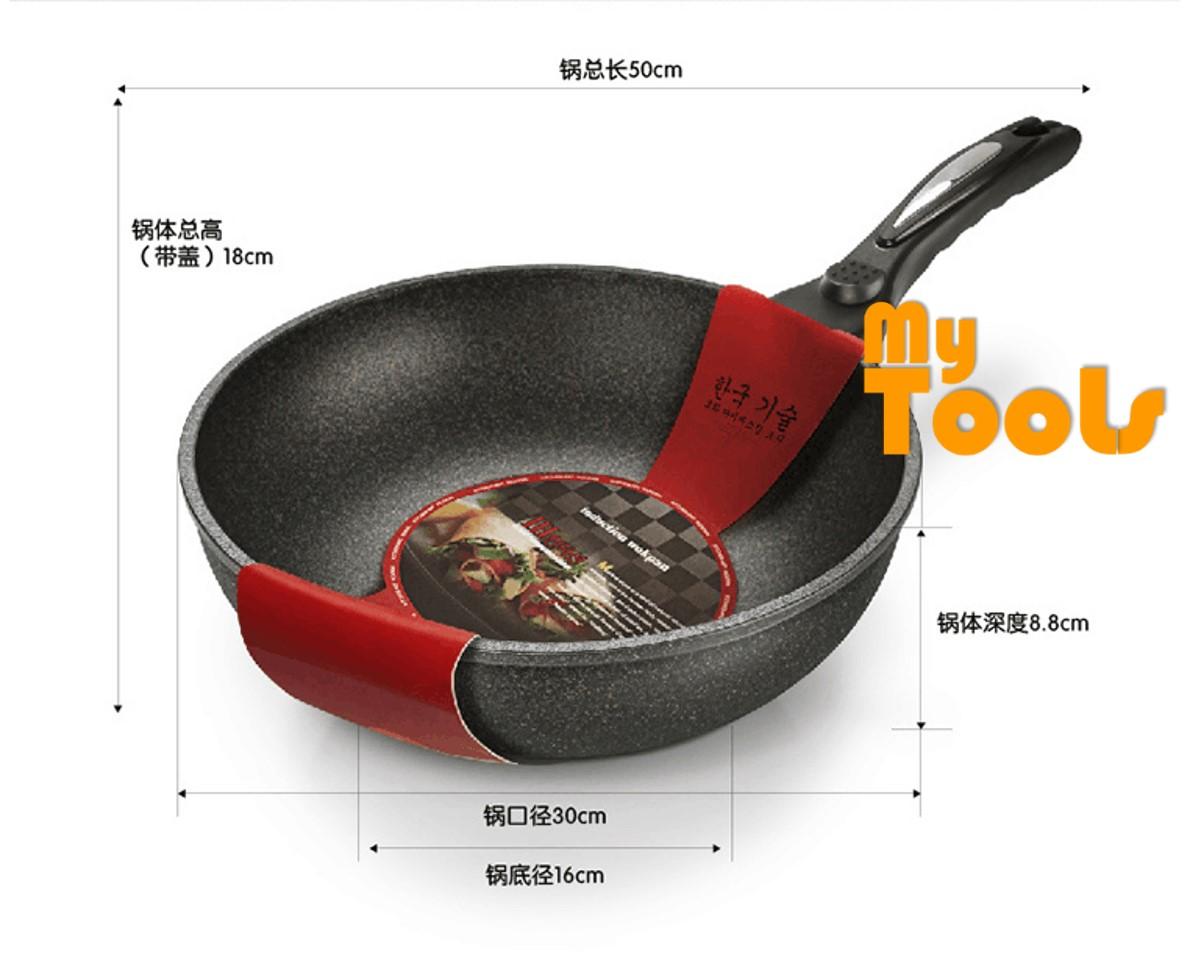 Korean Non Stick Frying Wok Pan Pot Maifan Marble Stone Korea Cooking Pot