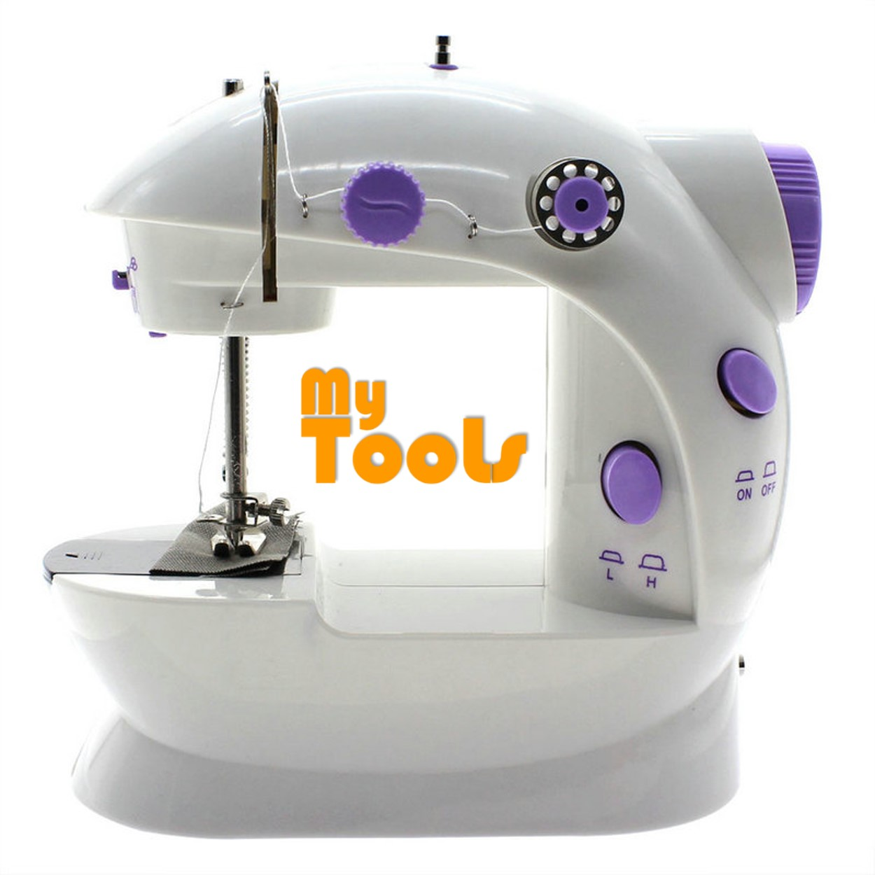 Mytools Portable Electric Mini Sewing Machine 202 with Foot Pedal (UK 2 Pin Plug)