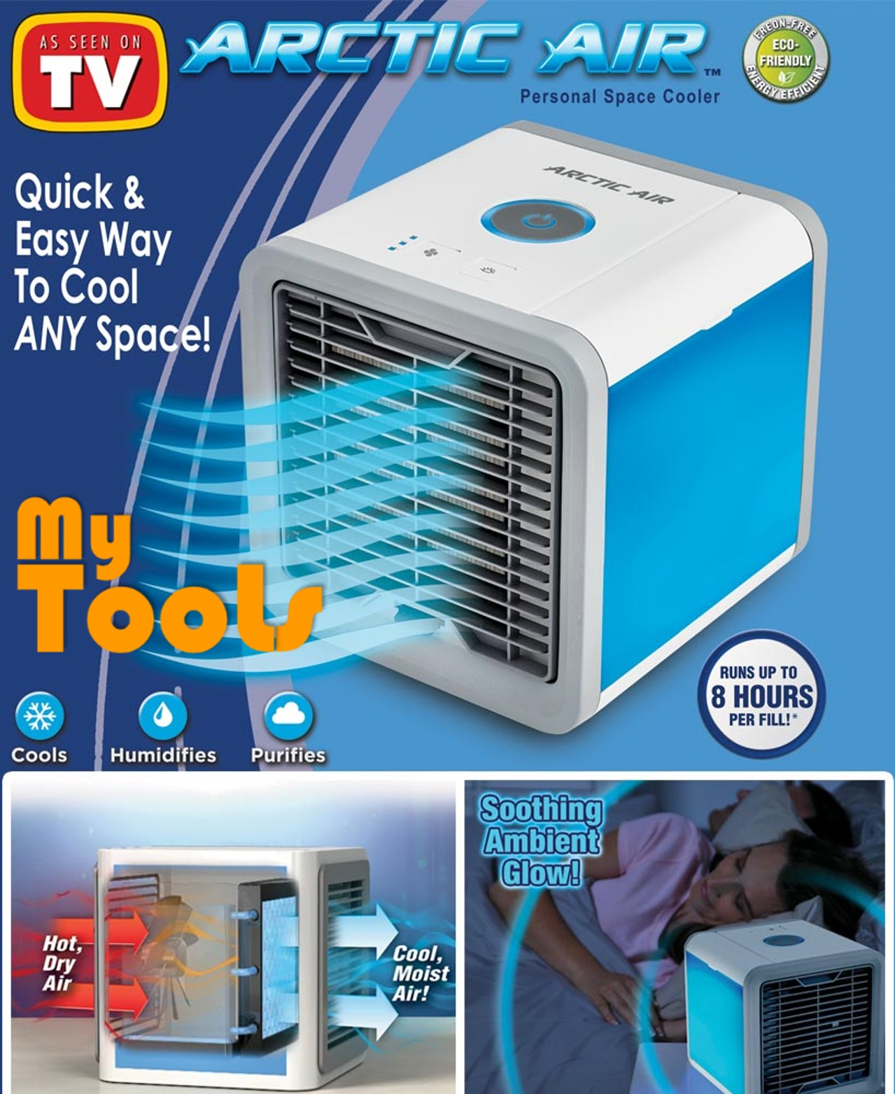Arctic Air Cooler Conditioner 3-IN-1 Cooler Humidifier Purifier