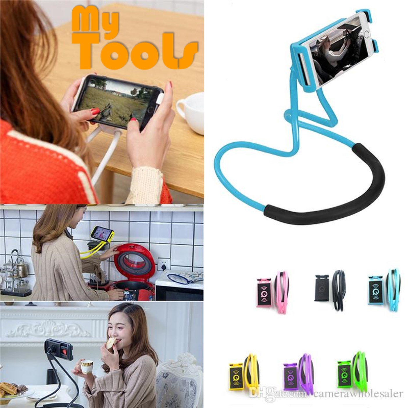 Mytools Mobile Phone Bracket Holder Hanging Neck 360 Lazy Necklace Bracket Slacker