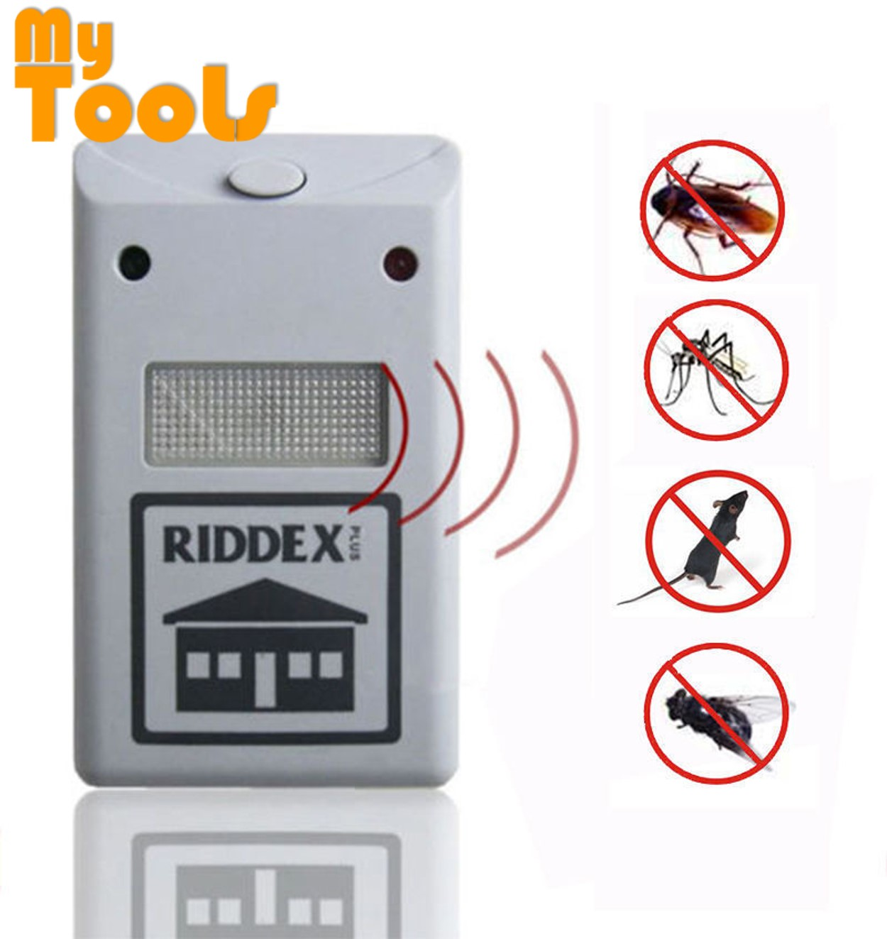 Mytools Riddex Insect Pest Repelling Aid Electronic Home Rodent, Roaches, Ants