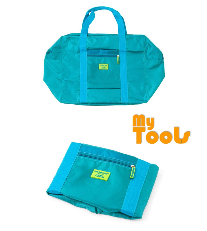 Mytools 32L Korea Foldable Waterproof Lightweight Nylon Travel Luggage Duffel Bag
