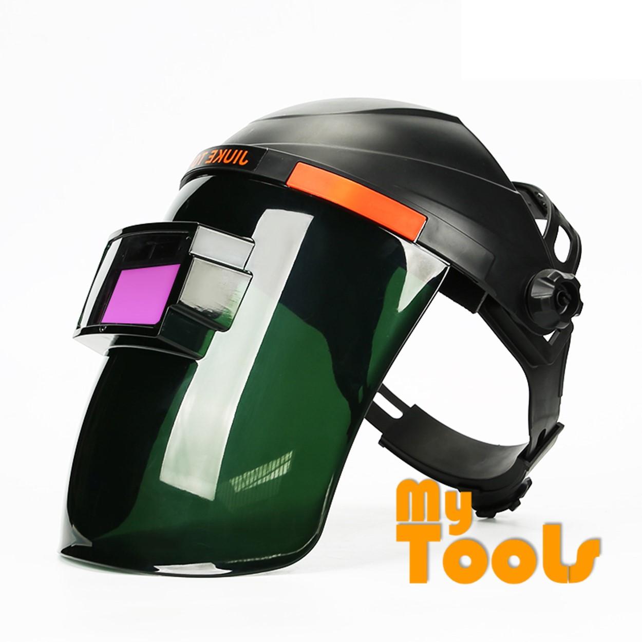 Mytools Auto-Darkening Solar Welding Helmet Mask with 4 Independent Shade Filter Sensors, Welding Mask