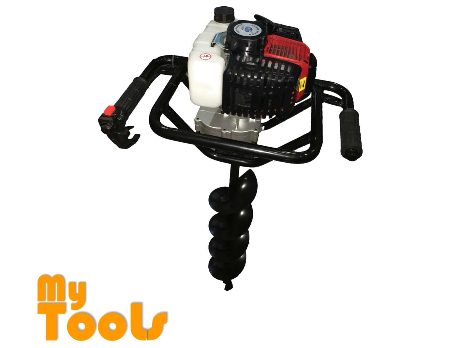 Mytools Steel Power Soil Earth Auger Machine 1.4kw 51cc 10kg c/w 100,150,200MM AUGER BIT