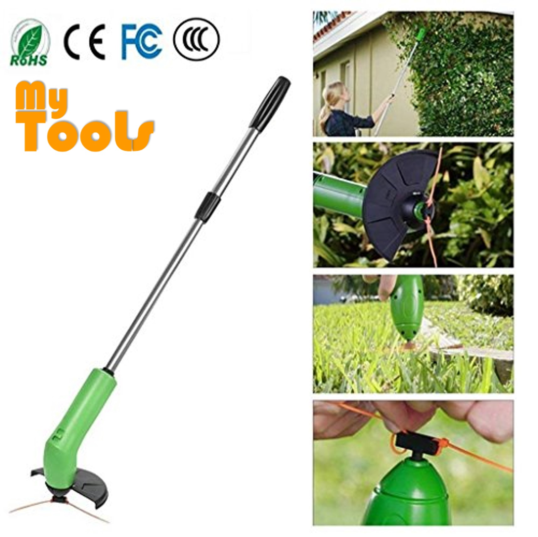 Zip Trim Garden Weed Cutter Cordless Trimmer & Edger Set Works