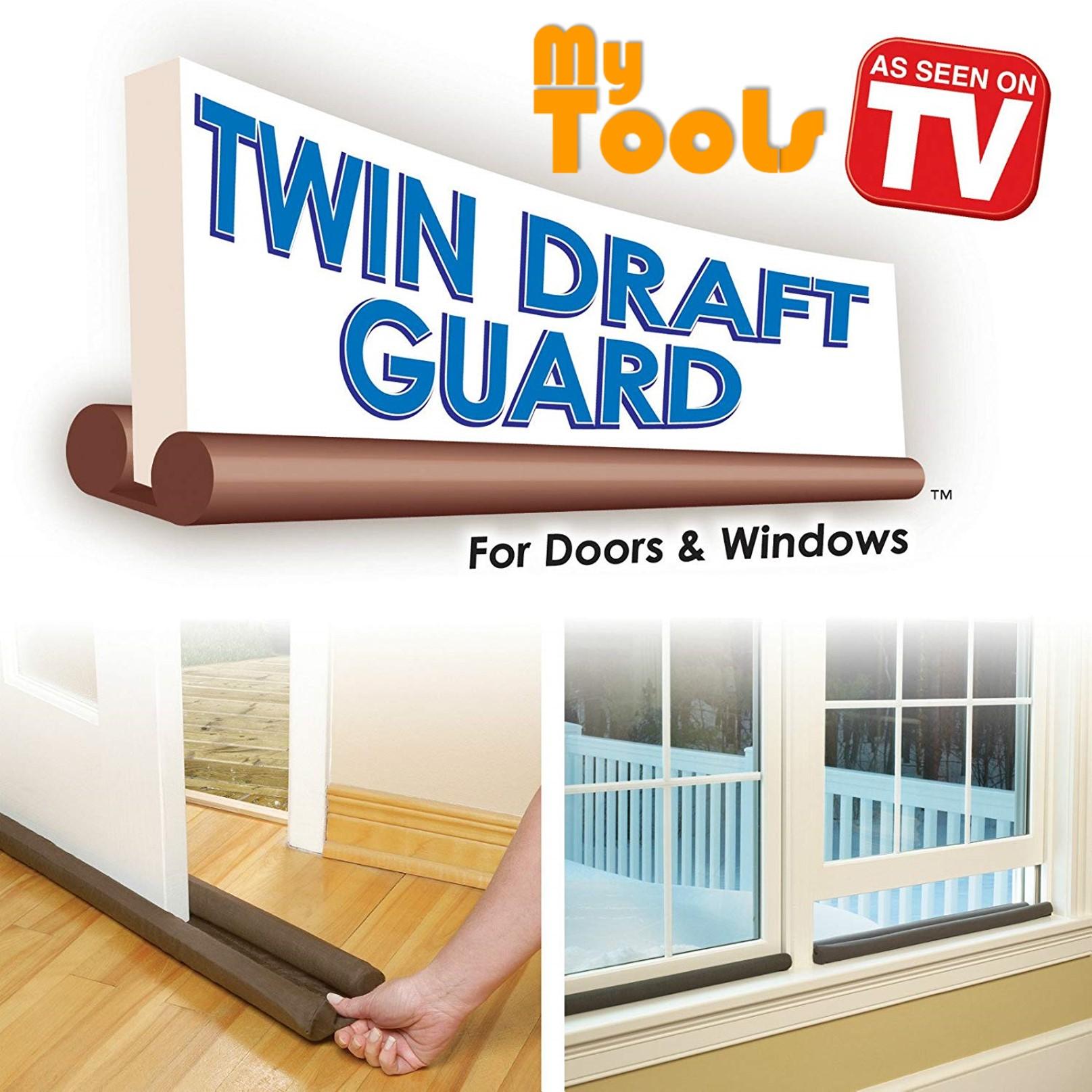 Twin Draft Door Guard Blocking Dust Adjustable Door Clean Strip Prevent Insect