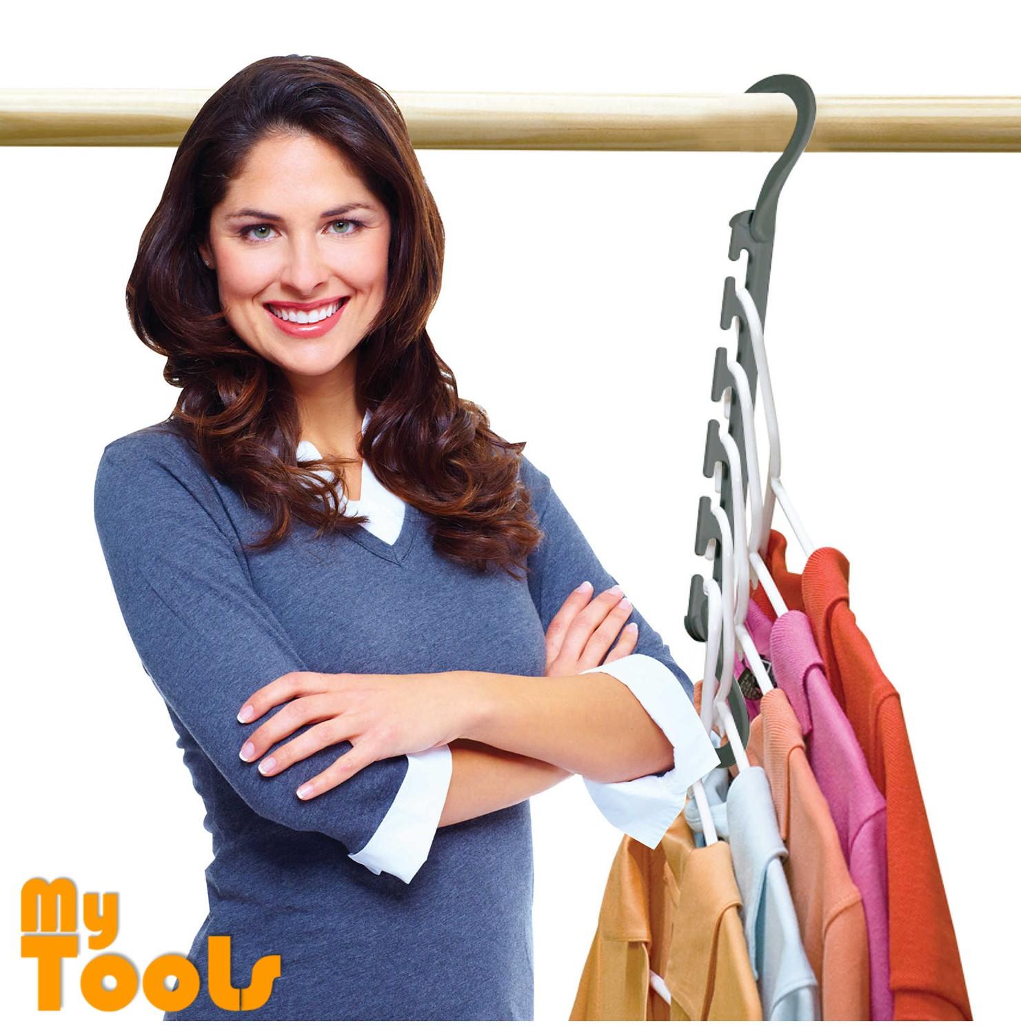 10 pcs Wonder Hanger Max 30 Pounds Stronger Triples Closet Space Clothing Wardrobe