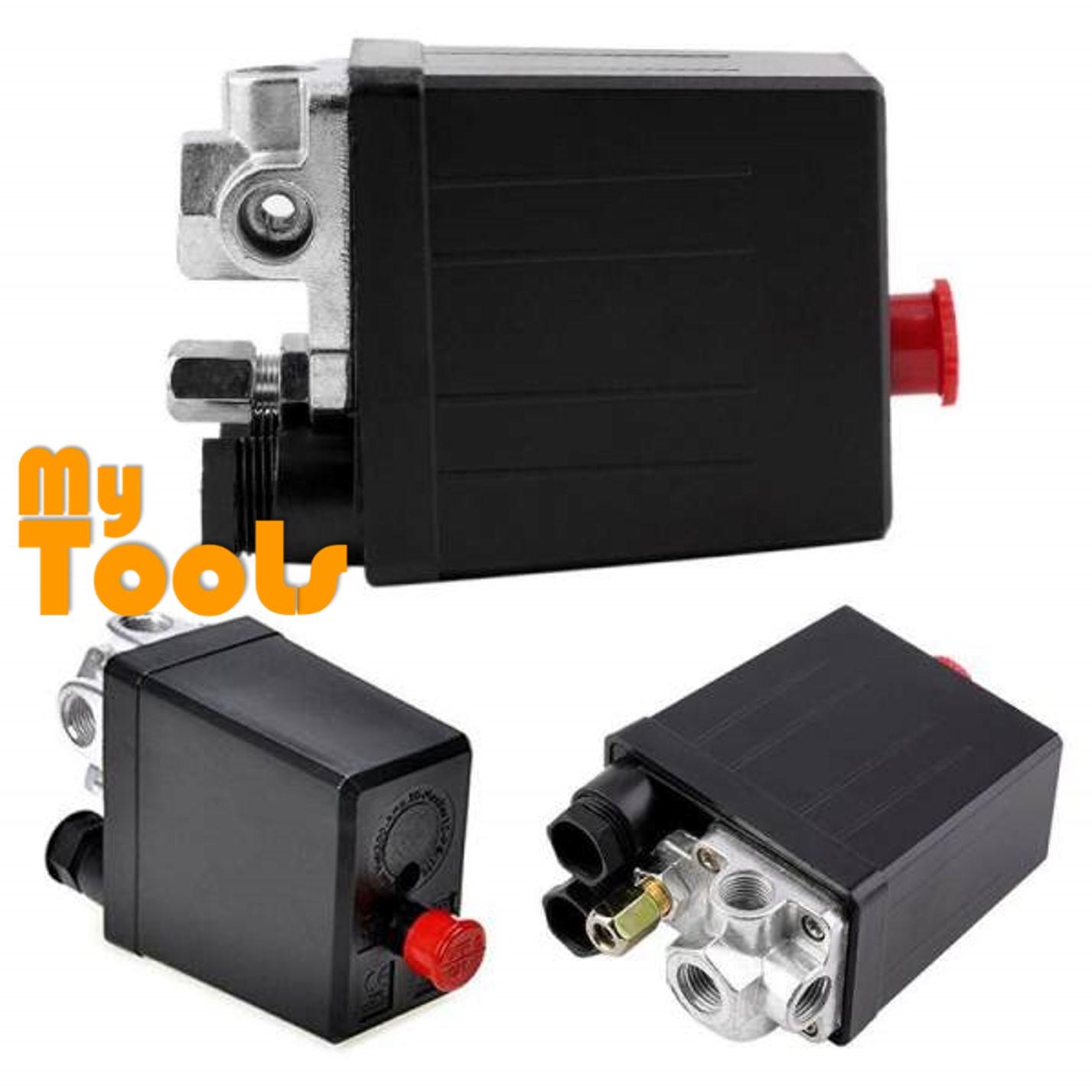 Regulator Gauges Control Switch Valve Air Compressor Pressure 90-120 PSI Valve 4 Way