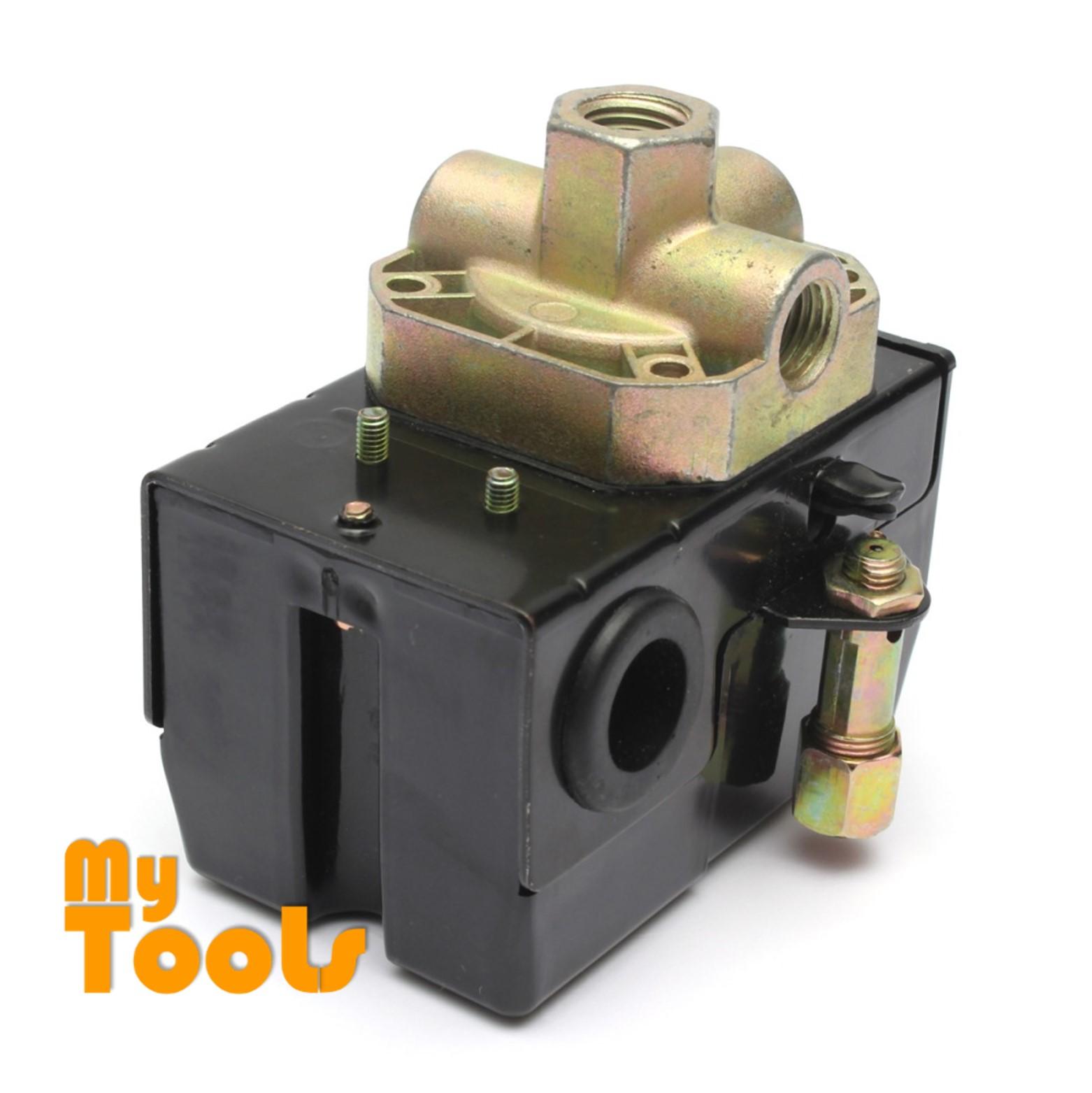 Pressure Switch Control Valve Air Compressor Heavy Duty 90-125PSI 4 Port 26 AMP
