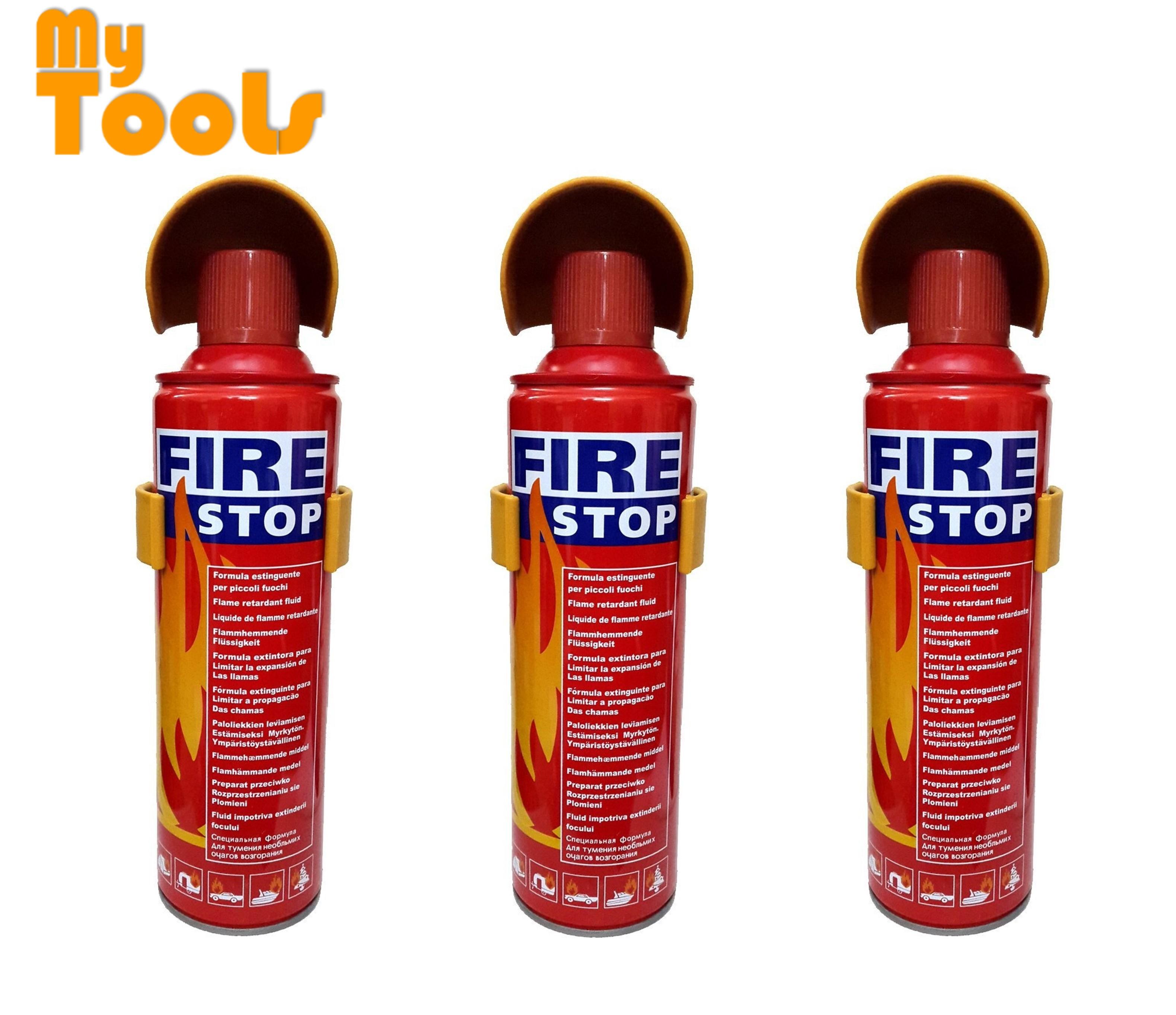 Mytools 3 Unit Portable Mini Fire Extinguisher Automotive Car And Home Dual Use 500ml