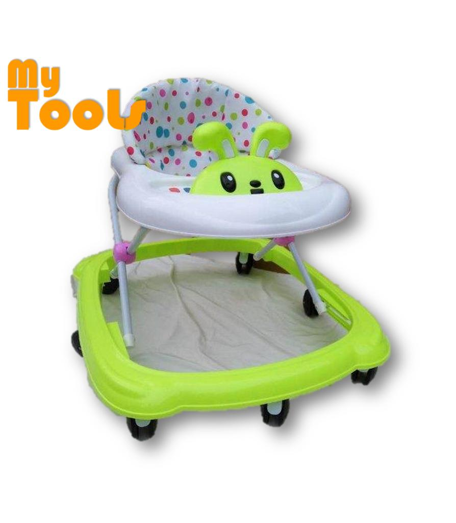 Mytools Rolling Wheels Baby Walker Free Stopper And English Song