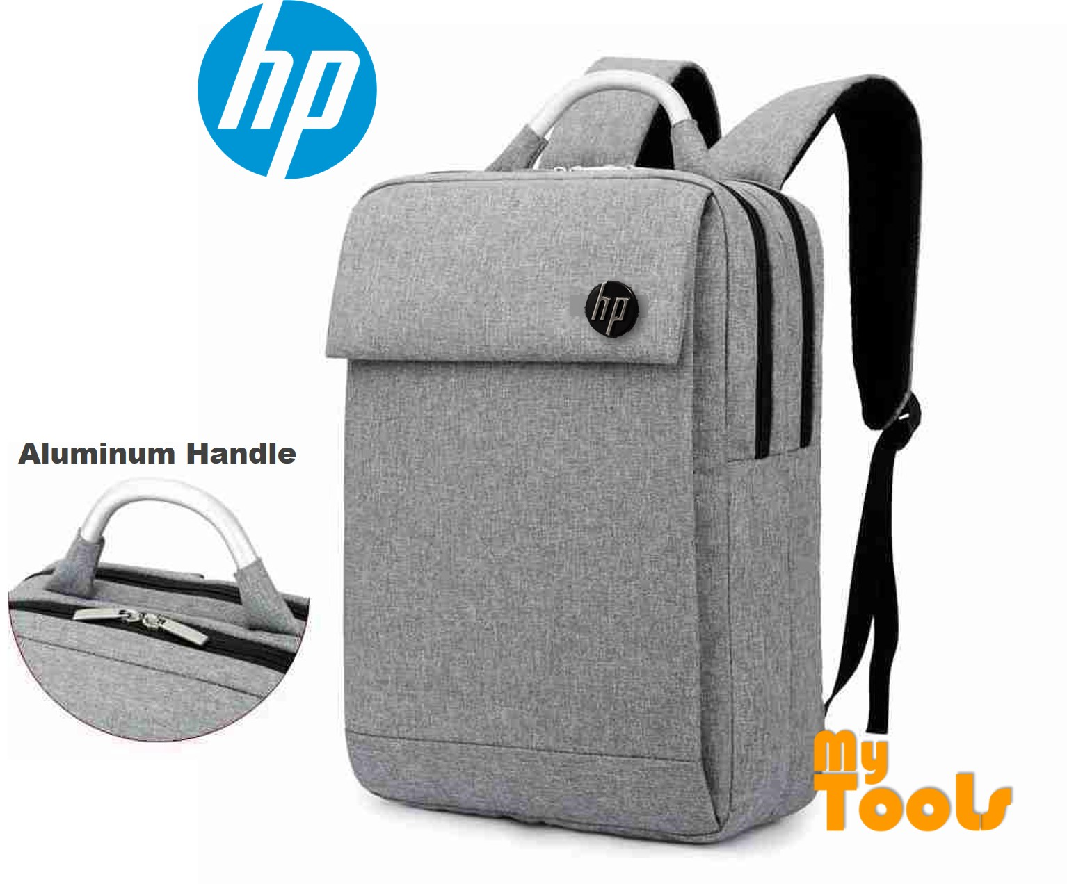 HP Notebook Laptop 15.6 inch Double Layer Backpack Bag Aluminium Handle