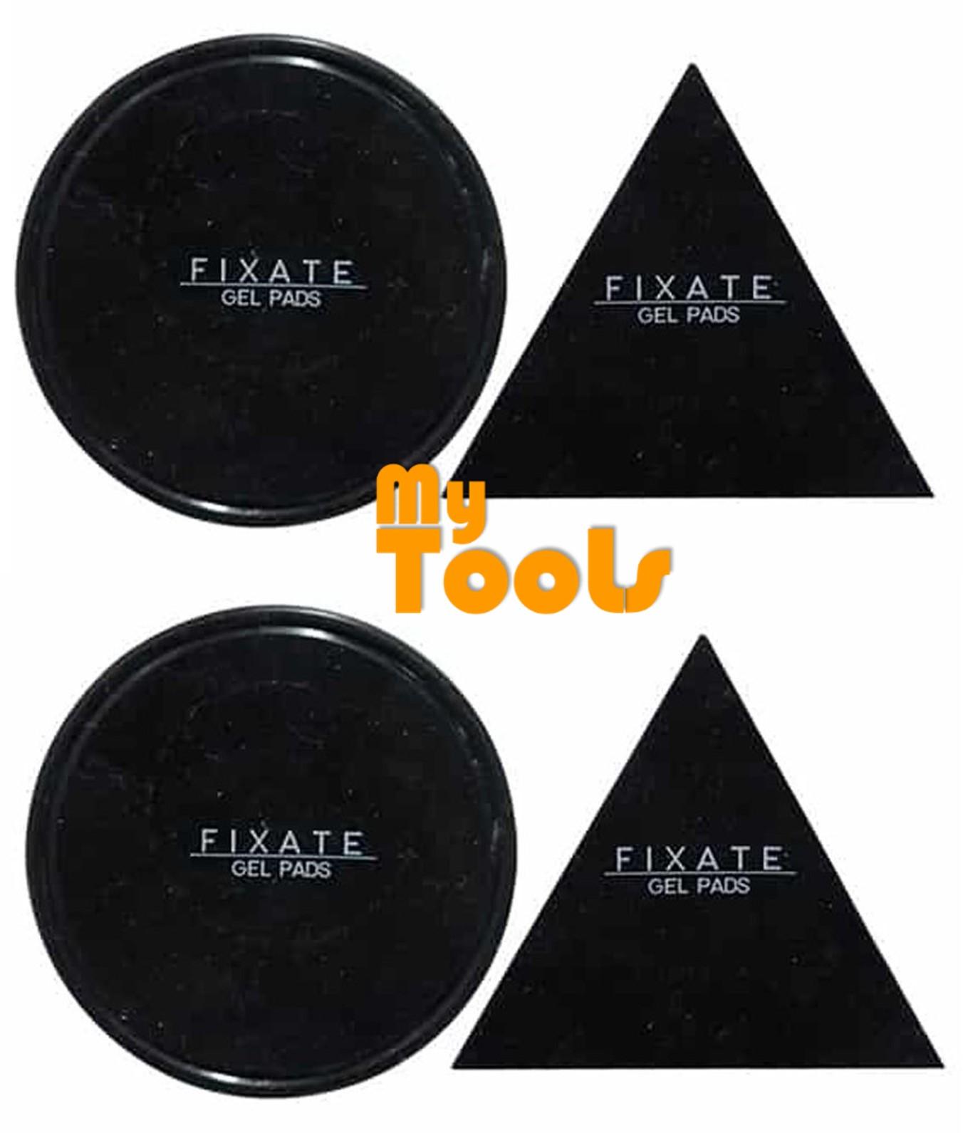 [2 Set] FIXATE GEL PAD Anti-slip Cells Pads Durable Washable 2pcs triangle + 2pcs circle