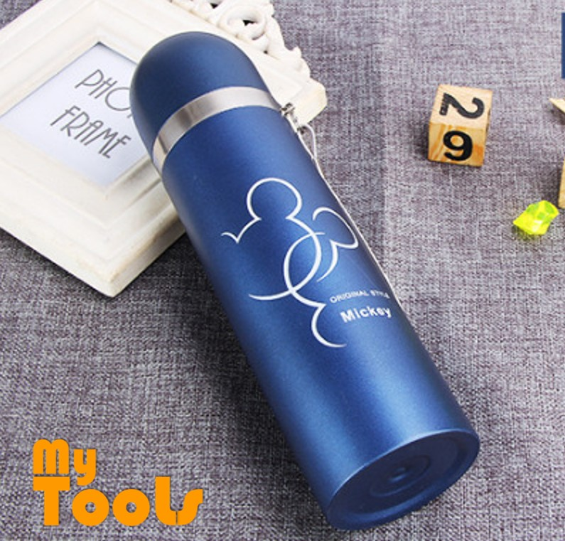 Mytools 500ml Micky Mouse Stainless Steel Thermos Mug Bullet Cup Termos Vacuum Flasks Outdoor Water Bottle