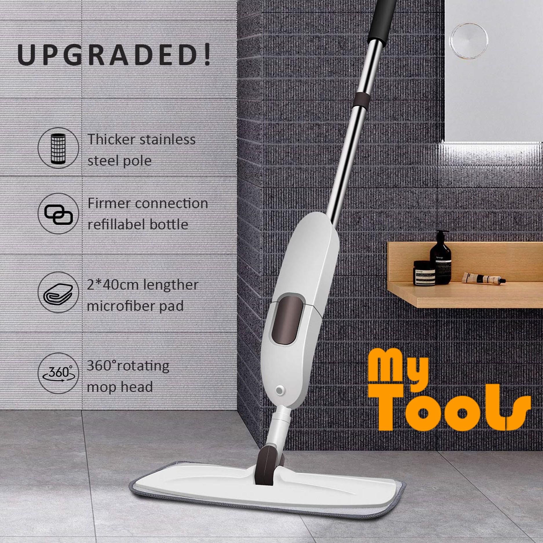 Mytools Premium Spray Mop Wet Floor Mop 600mL Watering Bottle 360° Rotating Mop Super Absorb Mircrofibre Pad