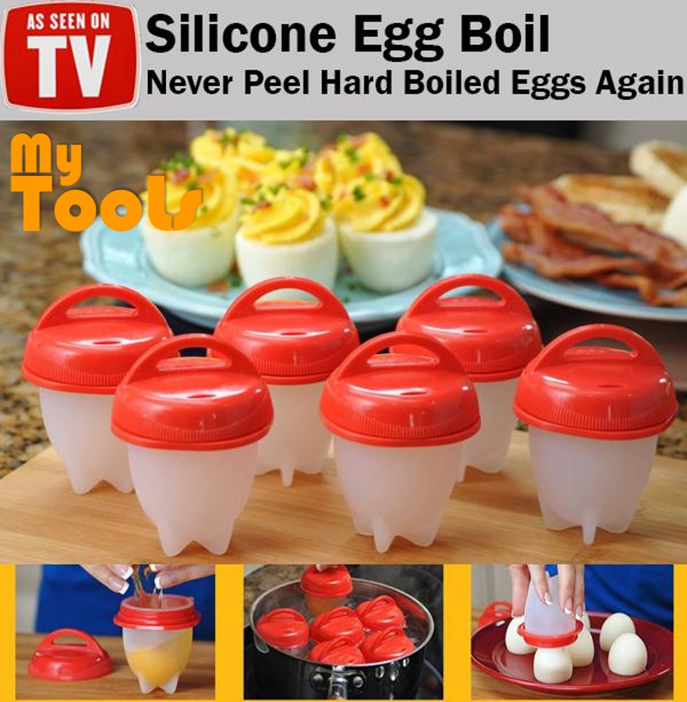 Mytools 6 pcs Silicone Egg Boil Boiler Omelettes Egg Cooker Cooking Container