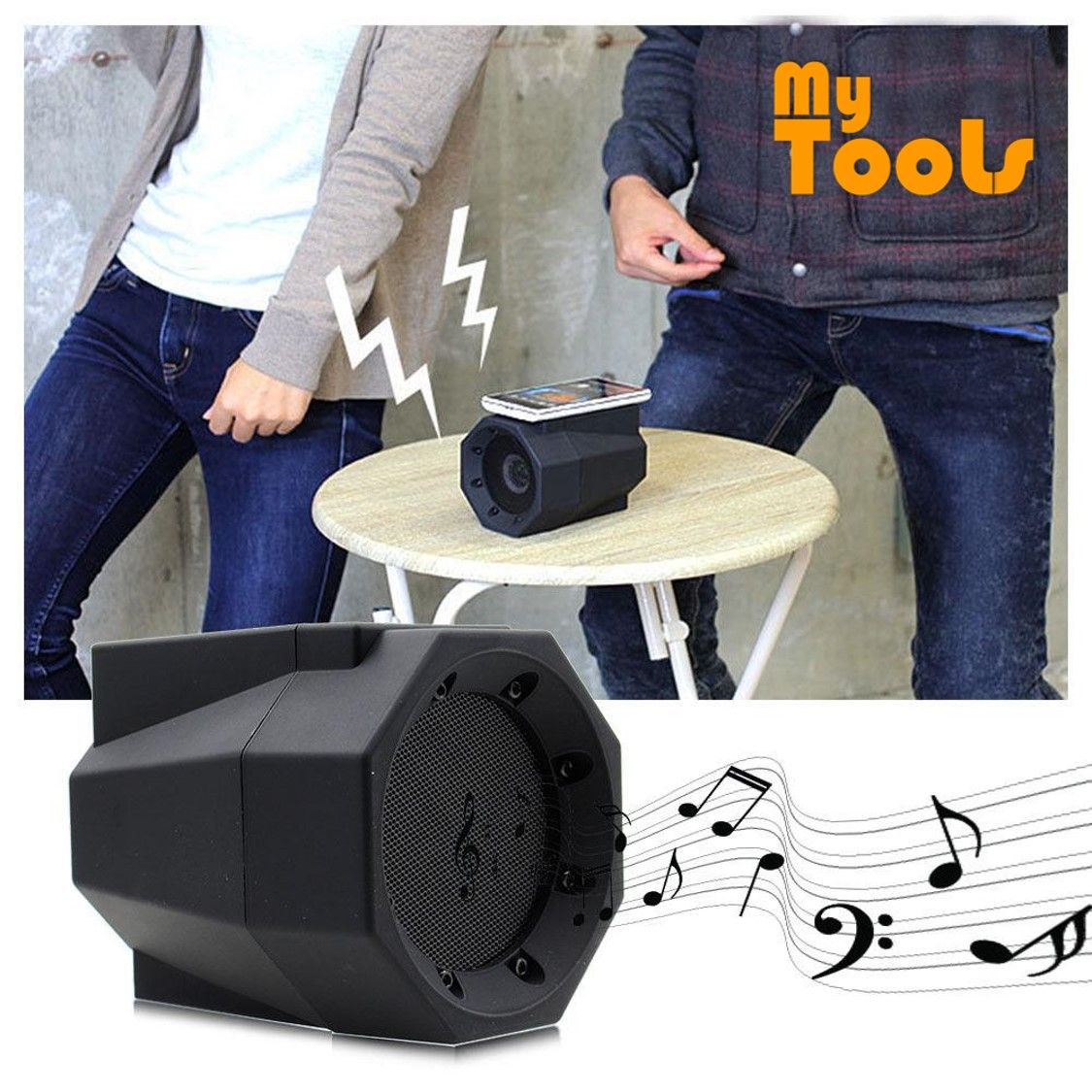 Mytools Mini Boom Box Touch Speaker Wireless Connection Smart Phone