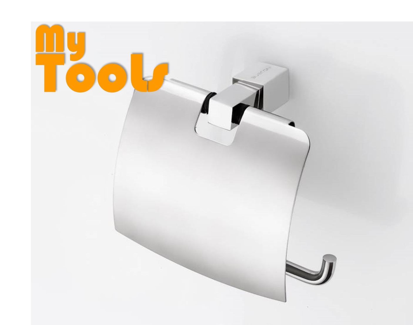 Mytools Stainless Steel Bathroom Toilet Paper Holder Roll Tissue Box Wall Mounted