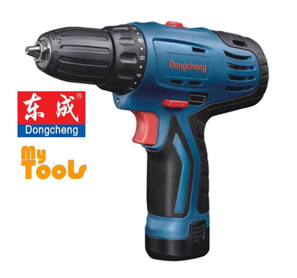 DongCheng DCJZ10-10B 12V Cordless Driver Drill c/w 2 Battery 1 Charger (6 months warranty)