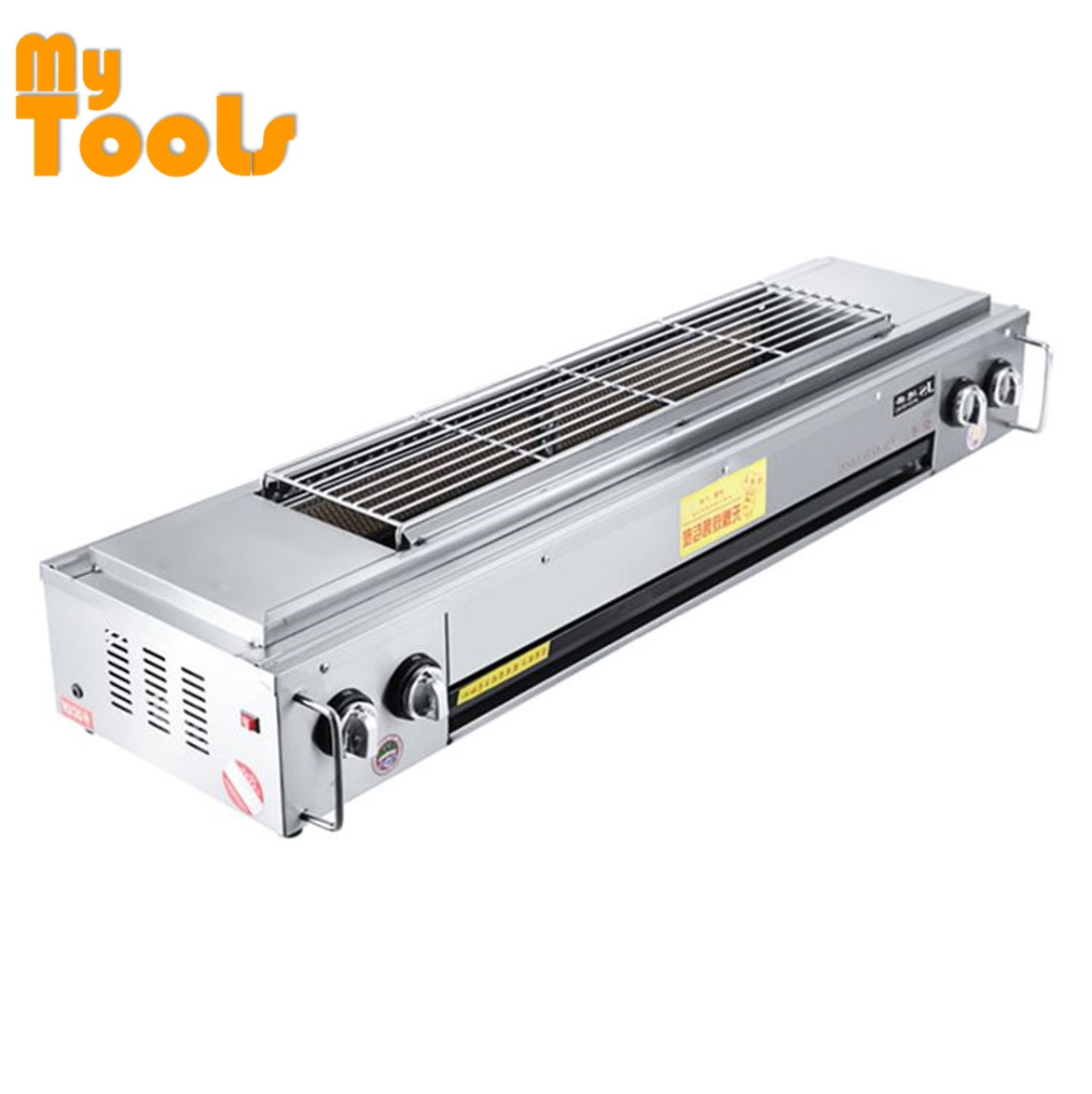 Mytools Stainless Steel 4 Burner Gas Barbecue BBQ Satay Grill Griddle