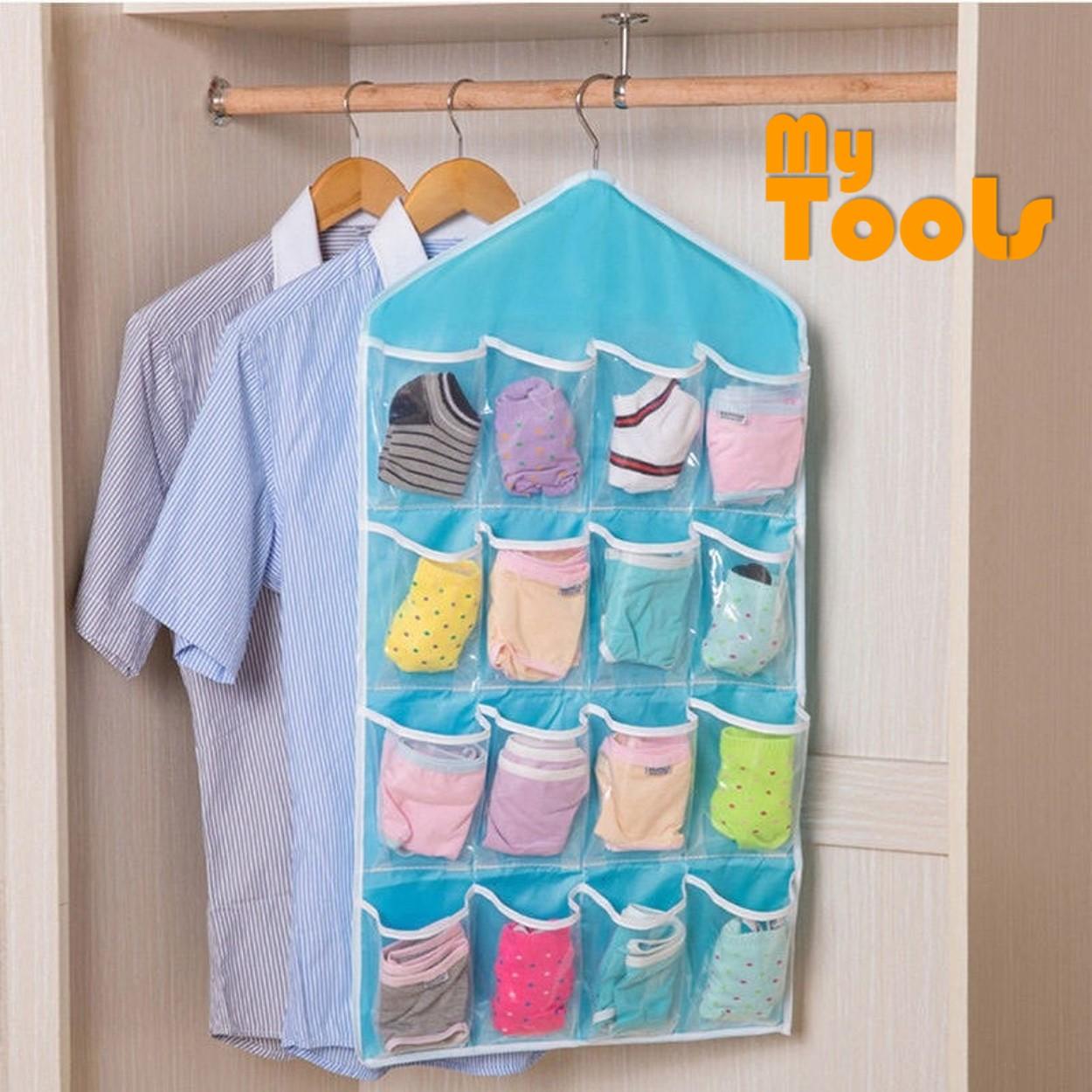 Mytools 16 Pockets Grids Door Hanging Bag Shoe Rack Hanger Storage Organizer