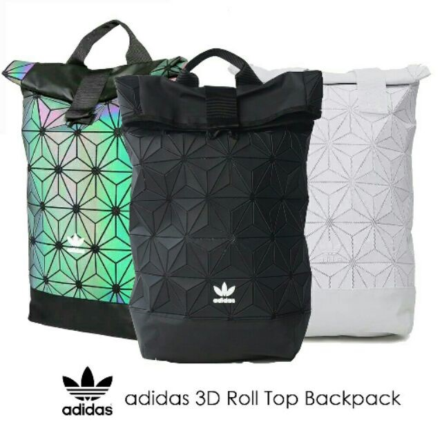 ADIDAS 3D Roll Top Backpack Travel Sport Fashion Men Women Bag