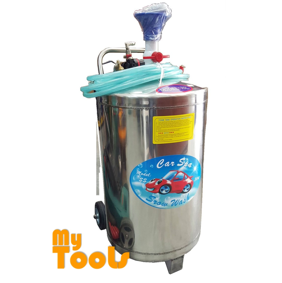 Mytools 70L Stainless Steel Snow Wash Tank