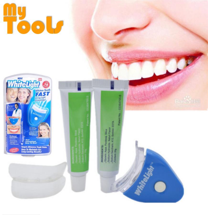 White Light Teeth Whitening System (FULL SET) + FREE EXTRA 2 tubes of Whitening Gel
