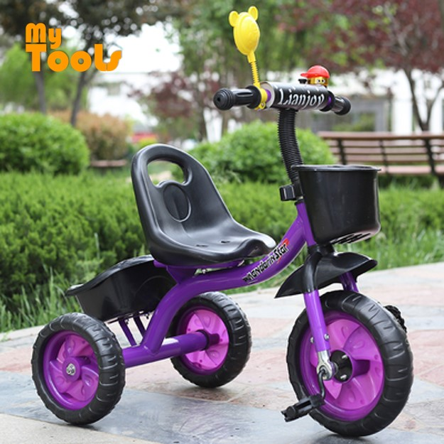 Mytools Kids Tricycle Baby Walker Bicycle Children Outdoor Toys Bicycles Ride On Bikes W Metal Bearing