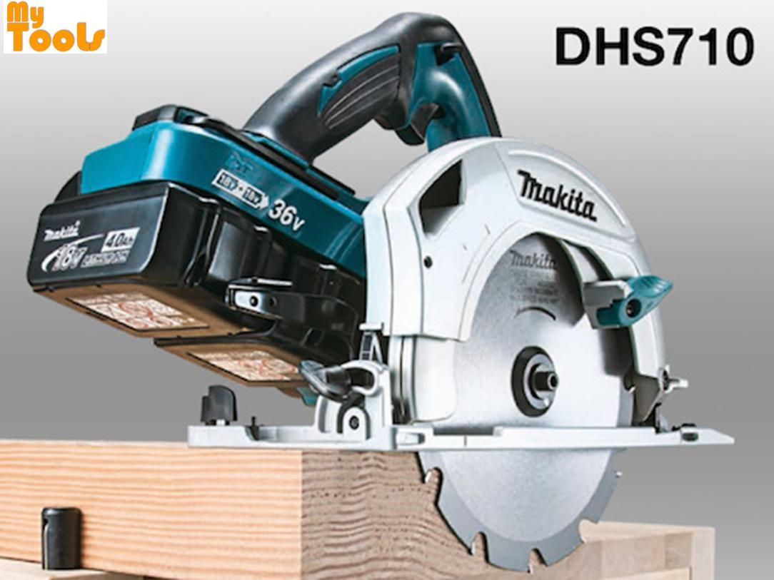 "Makita DHS710RF2J Cordless Circular Saw 190mm (7-1/2"") 18Vx2 LXT (1x Rapid Charger + 2x 3.0ah B"