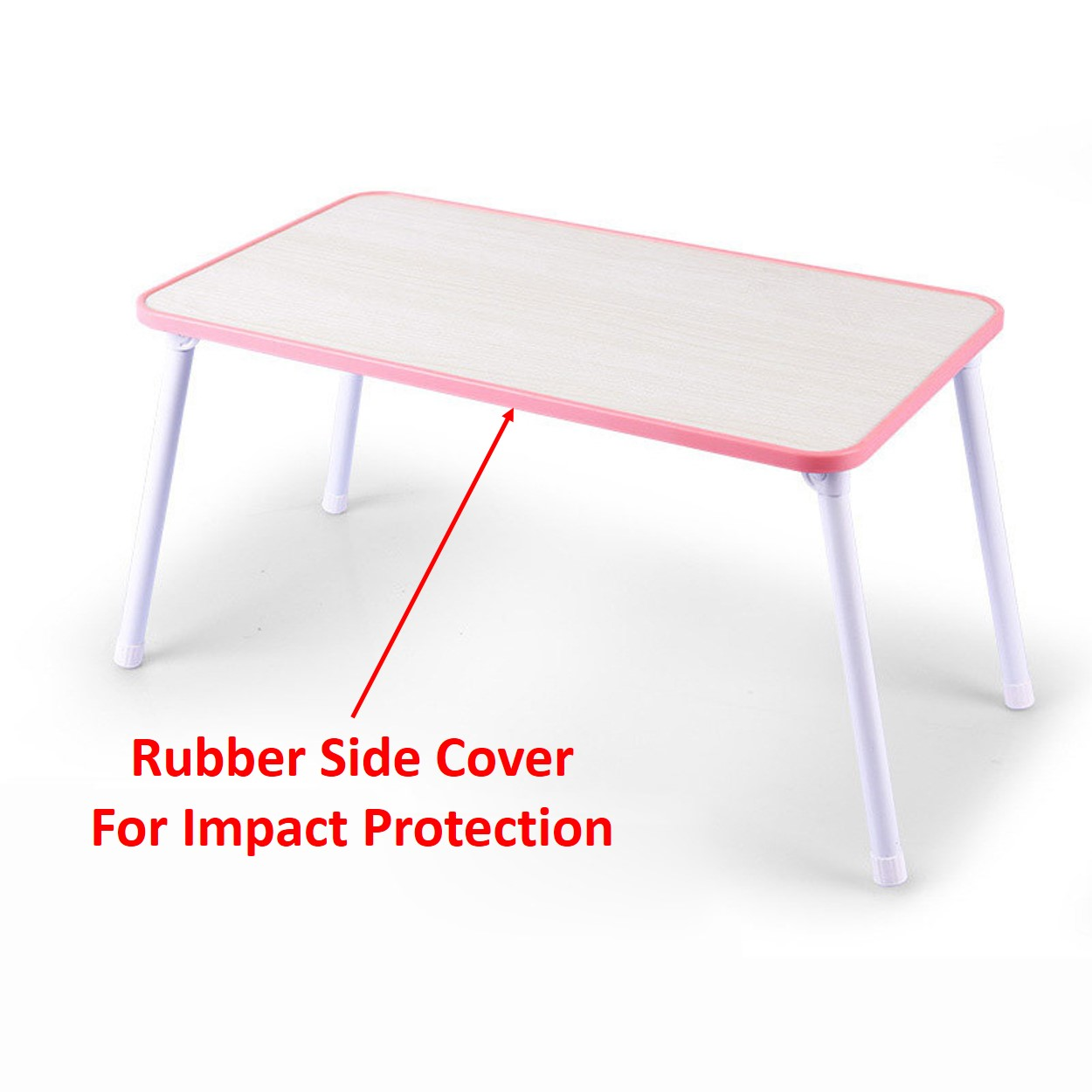 Mytools Computer Laptop table Foldable Study table Portable Desk W Side Rubber Cover