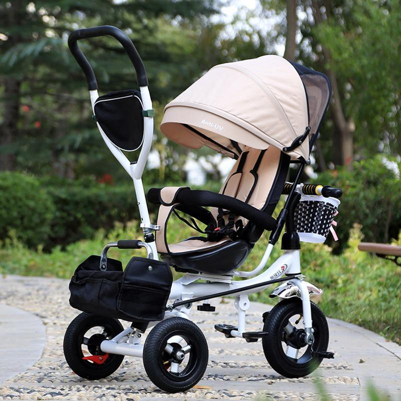 Premium 4 Stages 6 Months To 8 Years Old 360 Degree Turning Kids Tricycle Bicycle for Children