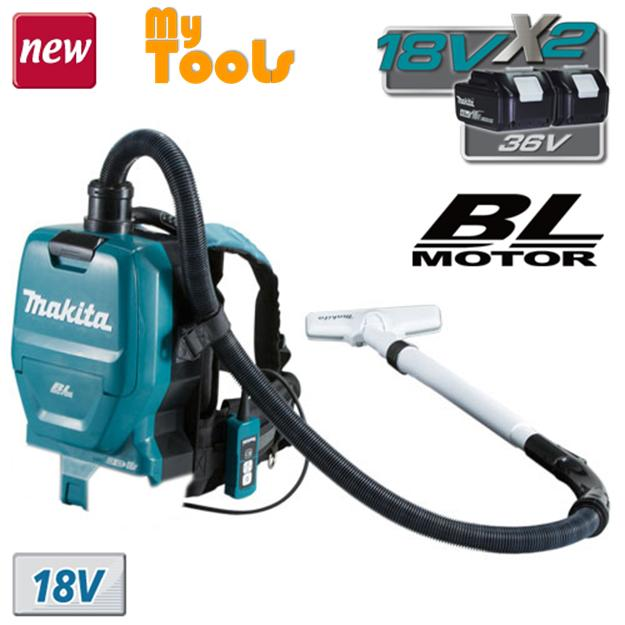 Makita DVC260Z Cordless Backpack Vacuum Cleaner 18Vx2 (With Charger and Battery 2X5.0Ah )