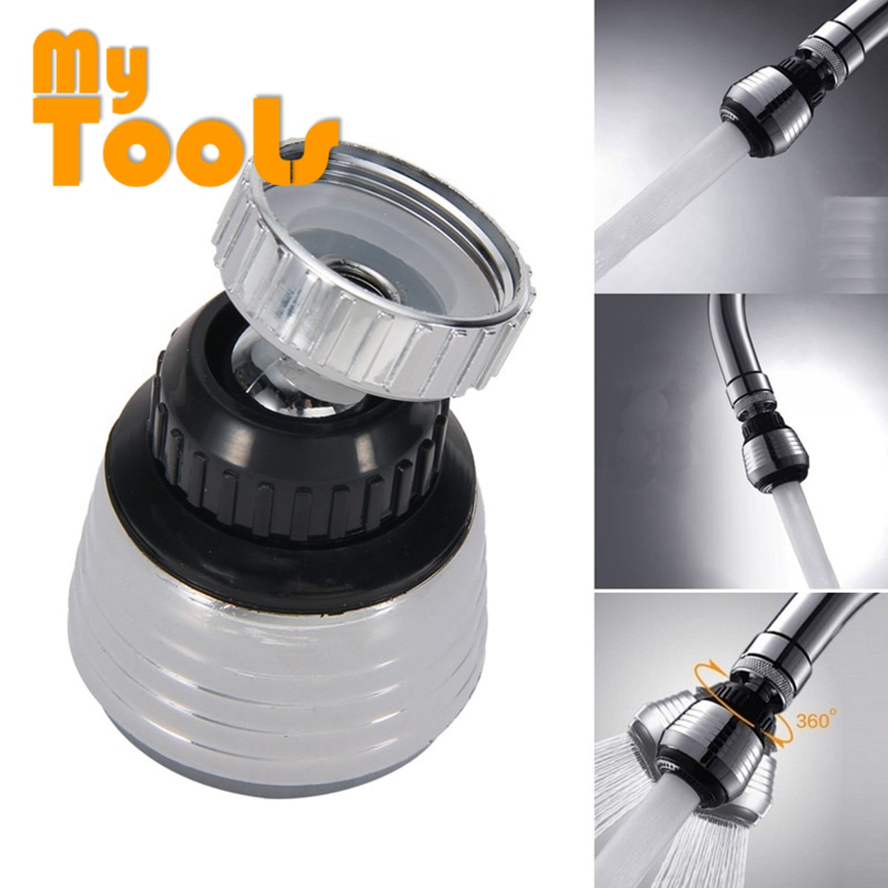 Mytools 360 Degree Swivel Water Saving Tap Aerator Diffuser Faucet Nozzle Filter Adapter