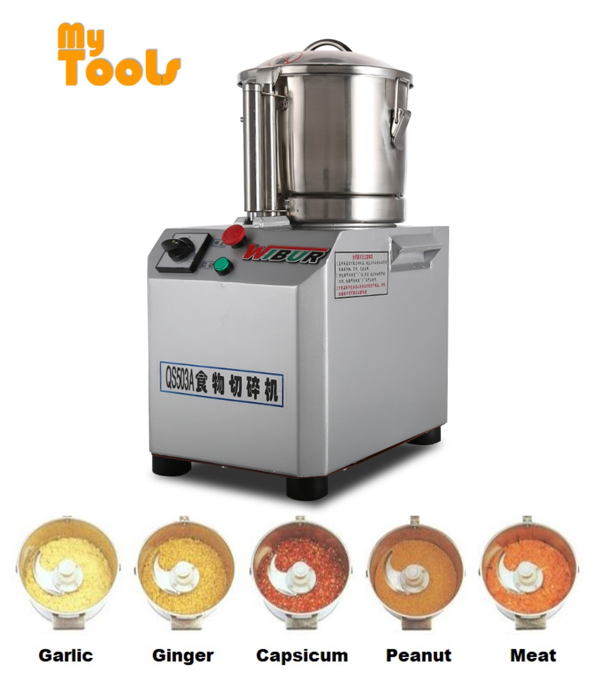 Mytools QS-503 Electric Universal Fritter Heavy Duty Blender Meat Chopper Machine Mincer Grinder