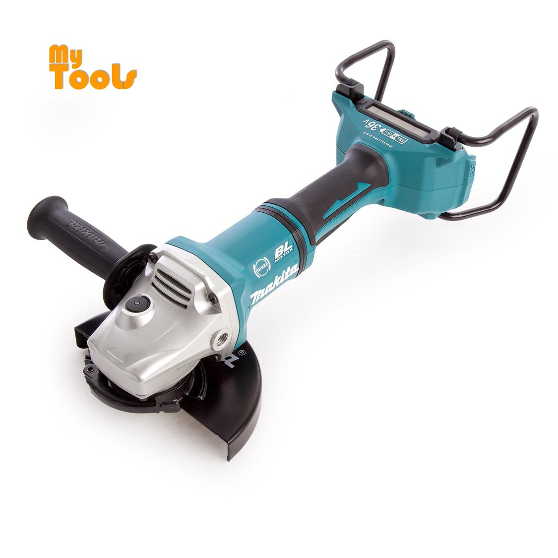 """Makita DGA700Z BL LXT 7""""Angle Grinder- Multicolour, 36 V, 165 mm Without charger and Battery"""