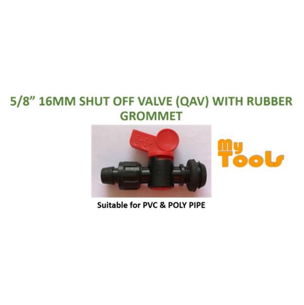 5pcs Poly and PVC Barb-Lock Valve for Farm or Garden Irrigation Drip Tape Connection 16mm for Lay Fl