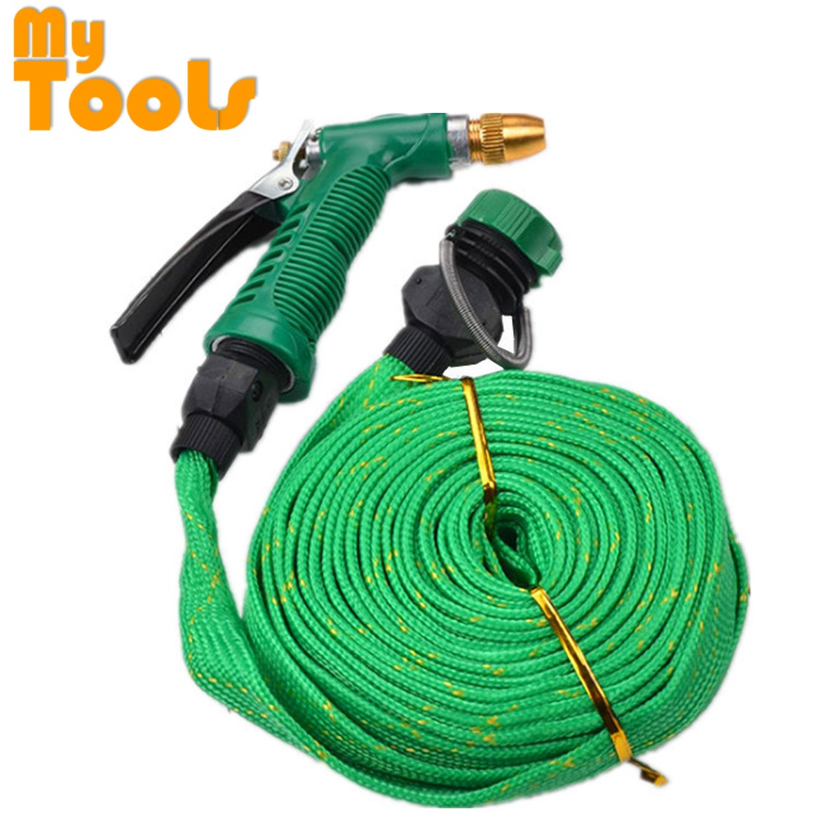 Mytools 15 Meter Mtr House Garden Pipe Hose Spray Water Gun Car Wash