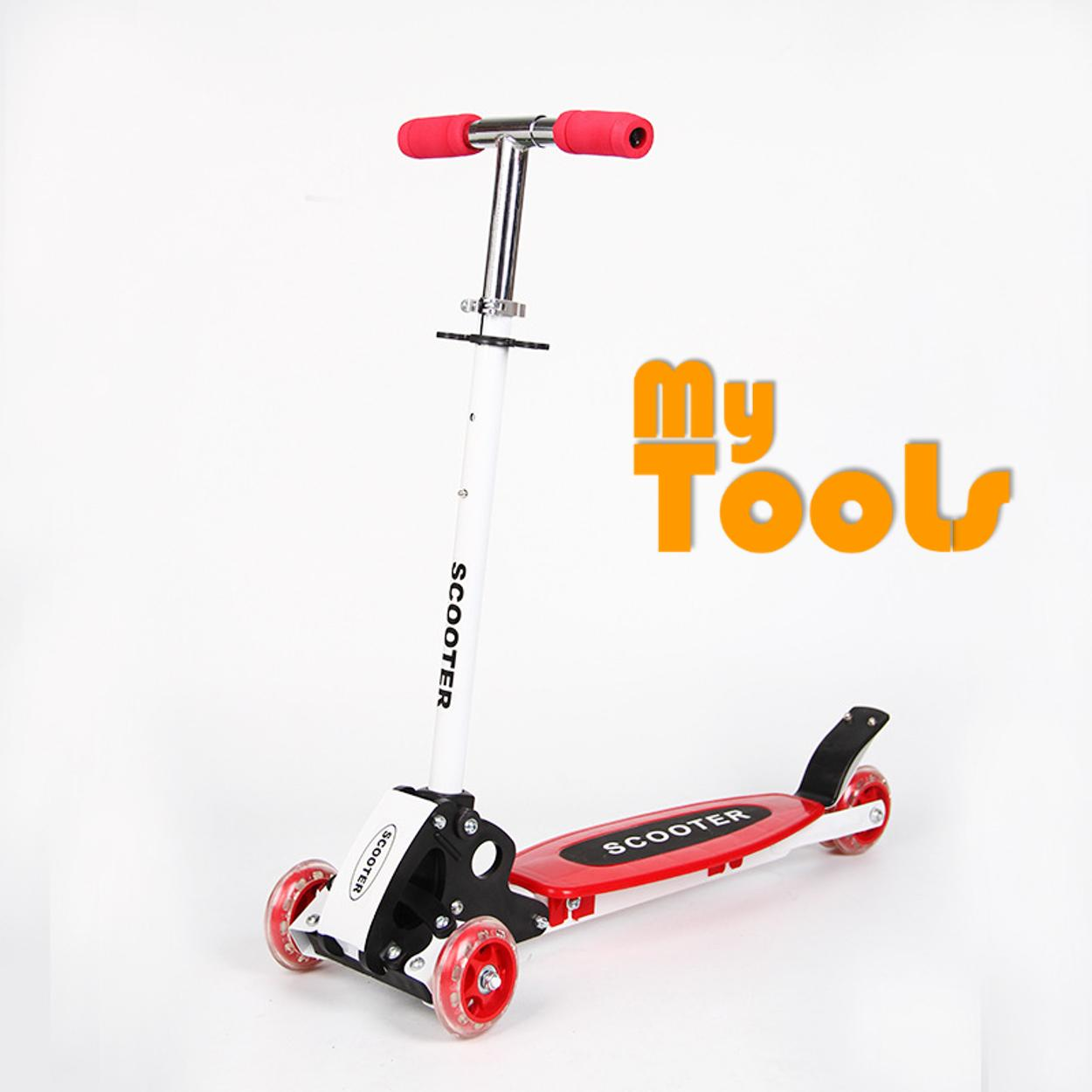 Foldable and Adjustable Flash Wheels Kids Kick Scooter