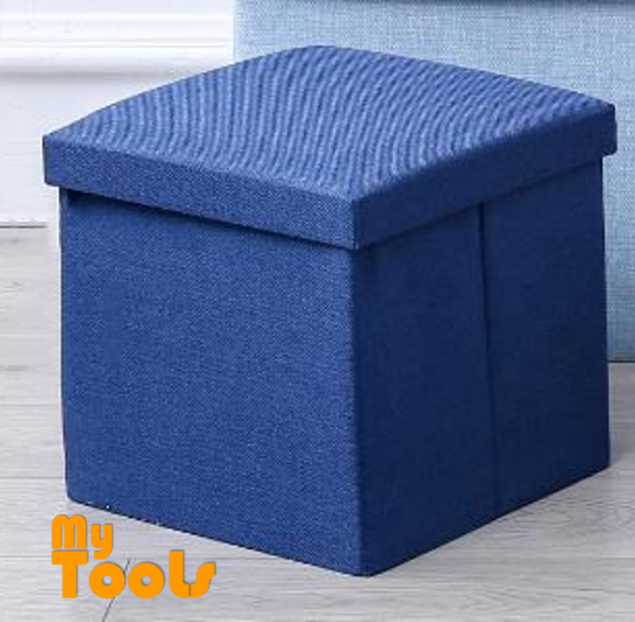 Marvelous Mytools Foldable Storage Ottoman Fabric Foot Stool Seat Footrest Folding Storage Box 30 X 30 X 30 Forskolin Free Trial Chair Design Images Forskolin Free Trialorg