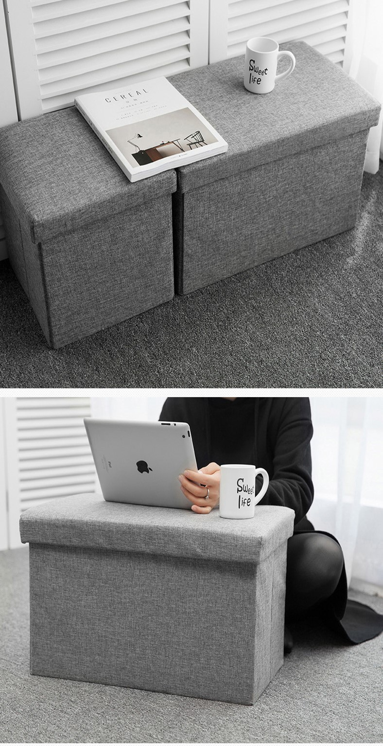 Wondrous Mytools Foldable Storage Ottoman 50 X 30 X 30 Fabric Foot Stool Seat Footrest Folding Storage Box Forskolin Free Trial Chair Design Images Forskolin Free Trialorg
