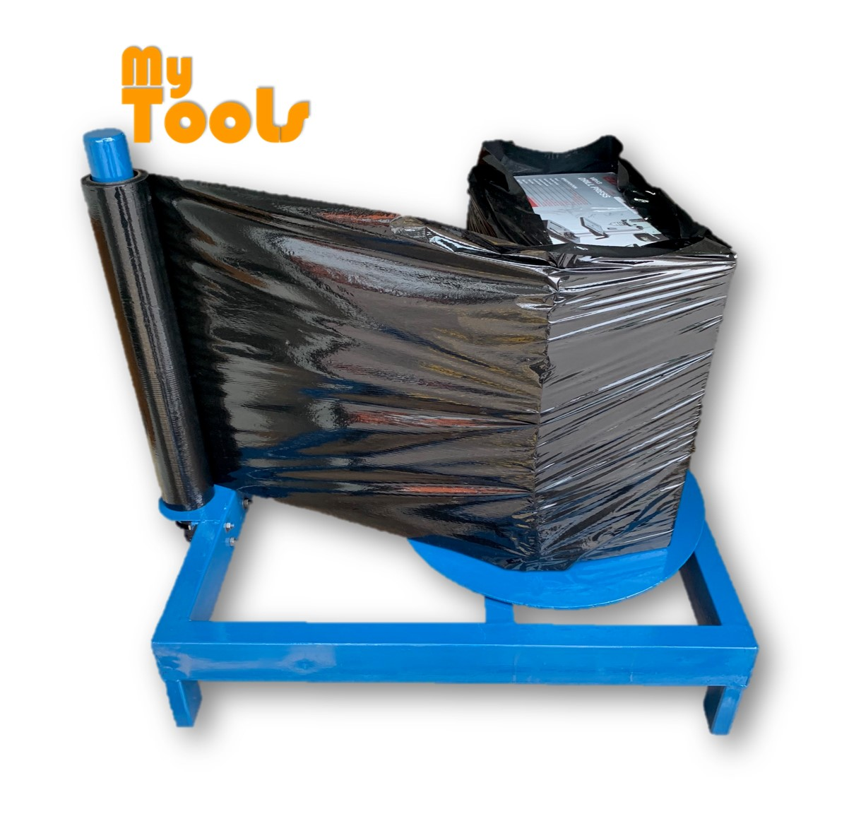 Mytools Stretch Film Manual Pallet Wrapping Wrapper Bundling Film Packaging Rotating Wrap Machine