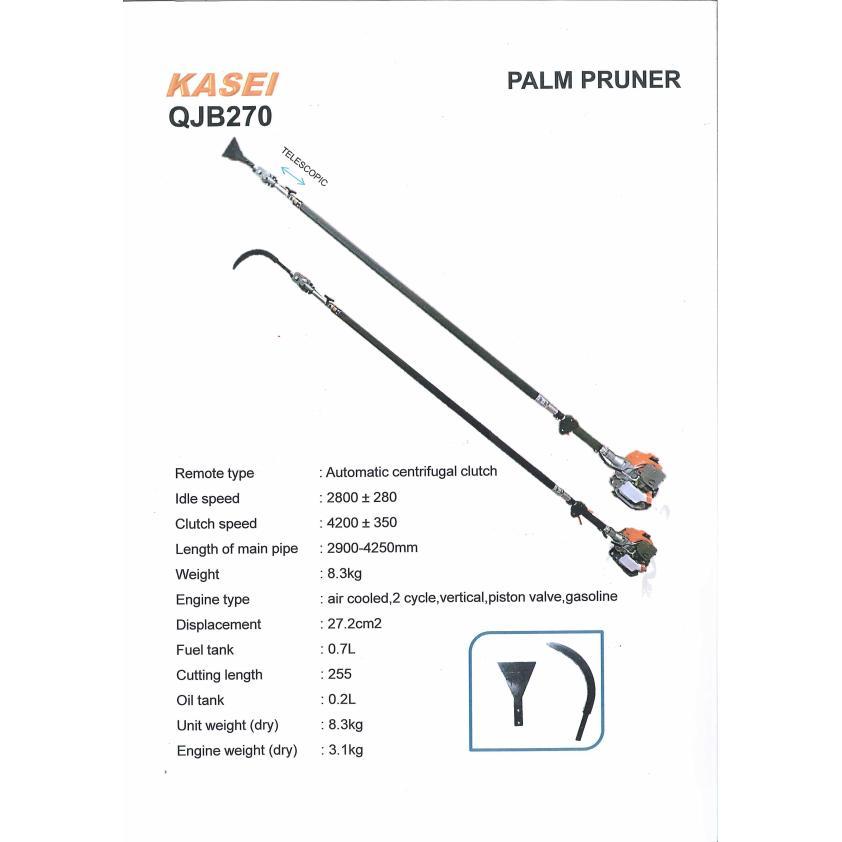 Kasei QJB280 Petrol Garden tools Telescopic Oil Palm Tree Pruner Pole Saw