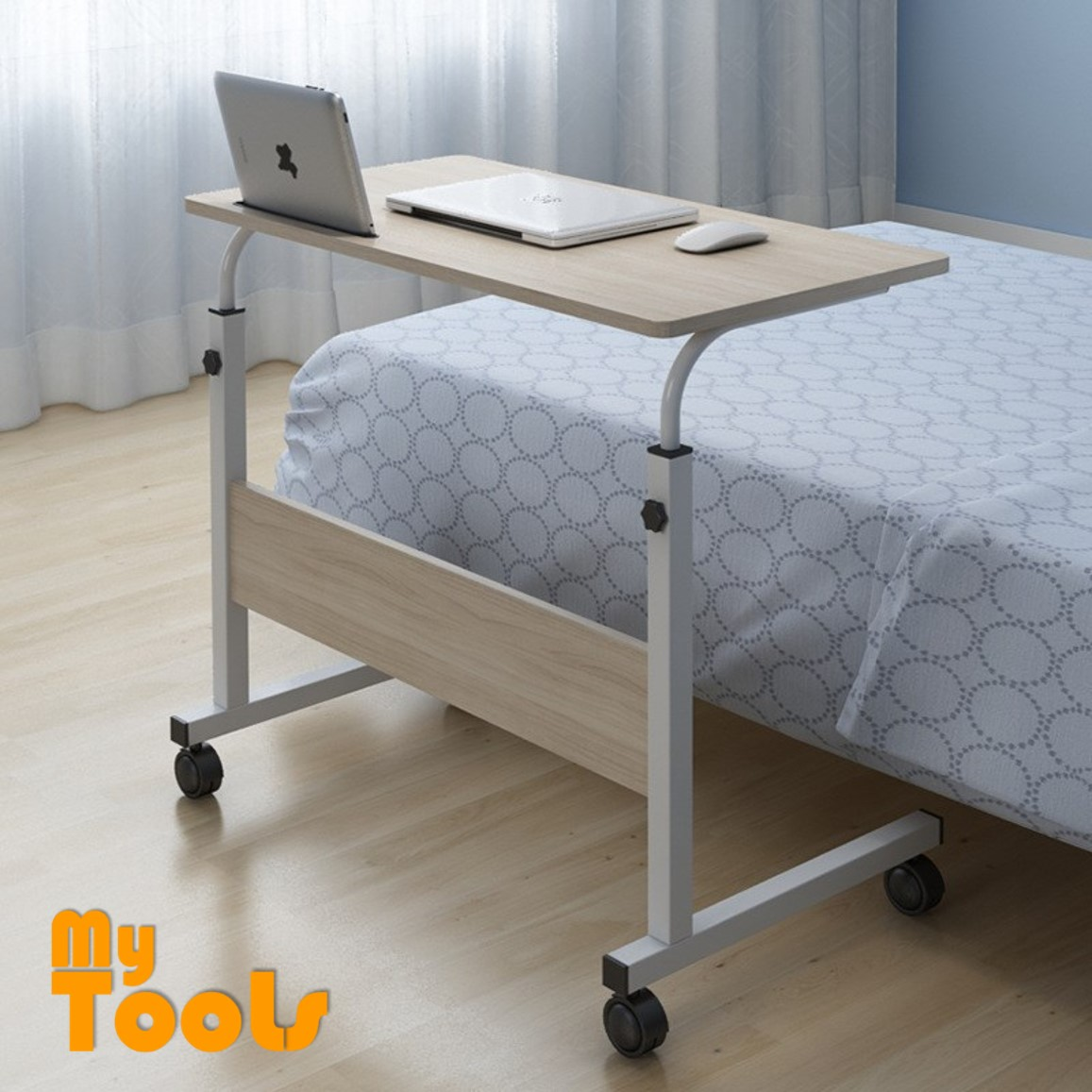 Mytools Bed Lazy Computer Table Caster Wheel Adjustable Simple Office Table Desk