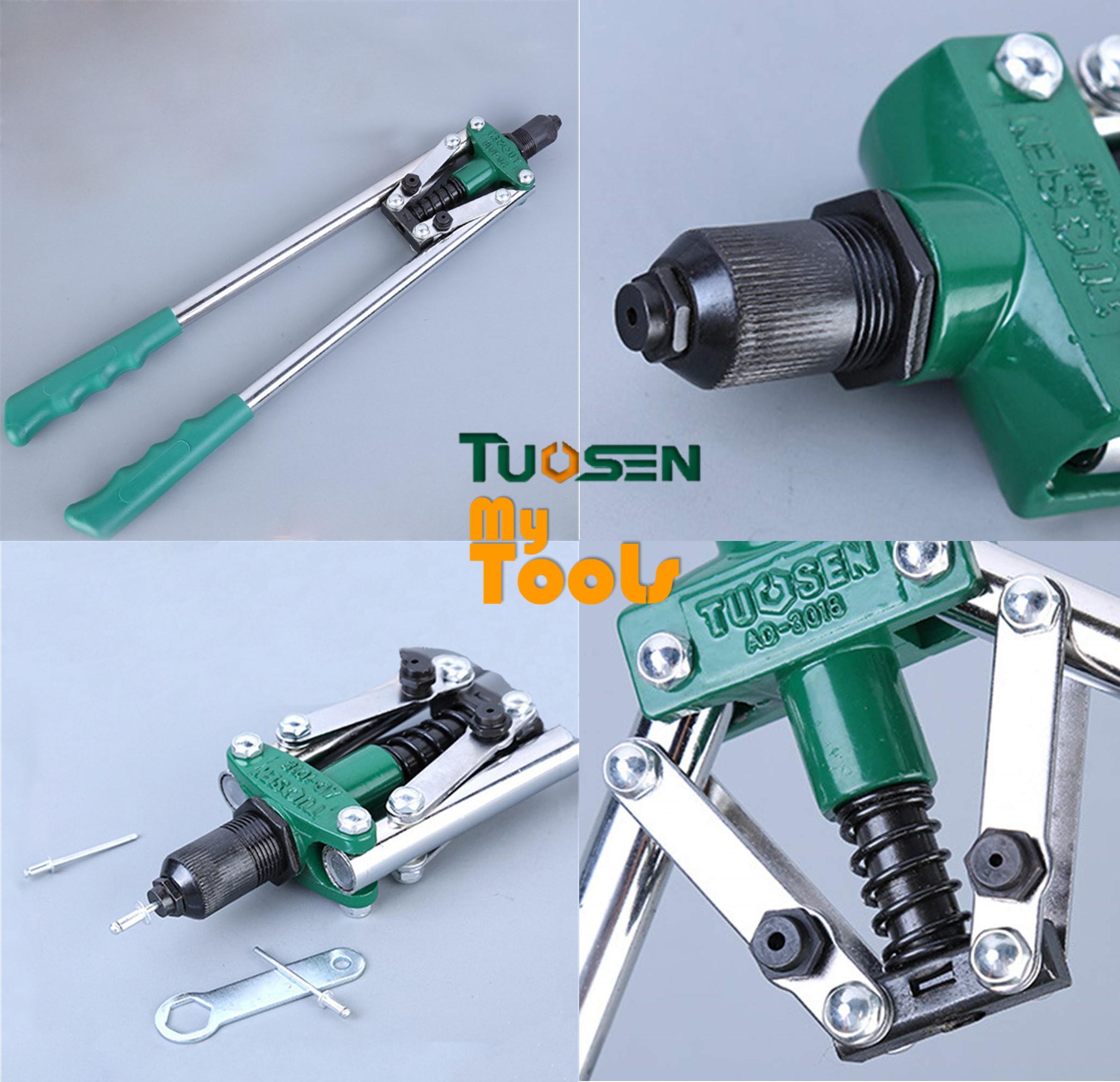 "Mytools Premium TUOSEN 17"" Heavy Duty Manual Hand Riveter Gun Rivet Double Handles Nail Gun Screwdriver Tool"